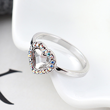 奥地利水晶戒指--爱是你我(白色)