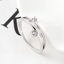 AAA级锆石戒指--魅力四射(白金)
