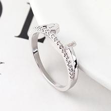 AAA级锆石戒指--魅力指环(白金)