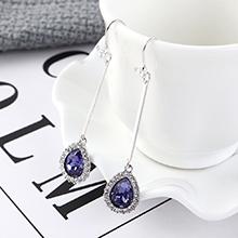 奥地利水晶耳环--心花怒放(紫色)