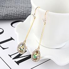 奥地利水晶耳环--心花怒放(七彩)