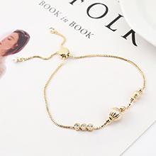 AAA级锆石手链--圆润如珠(14K金)