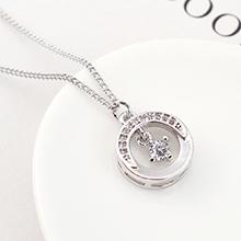 AAA级锆石项链--月半弯(白金)
