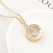 AAA级锆石项链--月半弯(14K金)