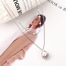 进口水晶项链--贝壳珠(白金)