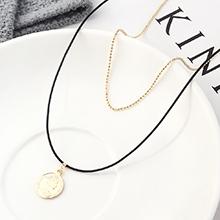 镀真金项链--人像印章(14K金)