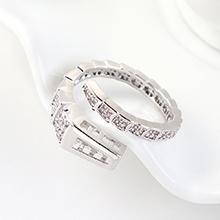 AAA级锆石戒指--蛇形之戒(白金)