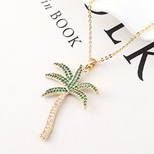 AAA级锆石项链--橄榄树(14K金)