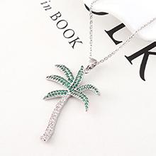 AAA级锆石项链--橄榄树(白金)
