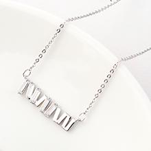 AAA级锆石项链--荧光(白金)