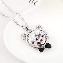 奥地利水晶项链--顽皮熊(白色)