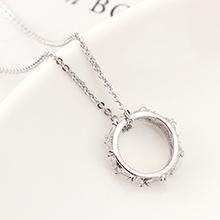 AAA级锆石项链--命运之轮(白金)
