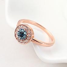 进口水晶戒指--恶魔之眼(玫瑰金)