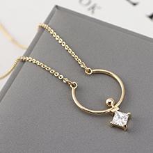 AAA级锆石项链--月亮湾(14K金)