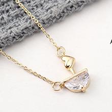 AAA级锆石项链--心泉之河(14K金)