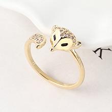 AAA级锆石戒指--魅狐(14K金)
