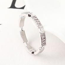 AAA级锆石戒指--今生与共(白金)