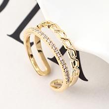 AAA级锆石戒指--相伴永远(14K金)