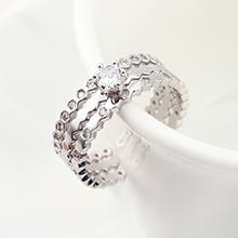 AAA级锆石戒指--珍爱一生(白金)