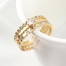 AAA级锆石戒指--珍爱一生(14K金)