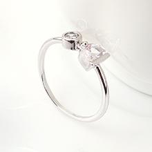 AAA级锆石戒指--冰泉(14K金)