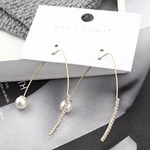 韩版时尚个性百搭镀真金珍珠三角耳环