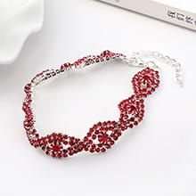 韩版大气时尚创意魅力之眼手链(红色)