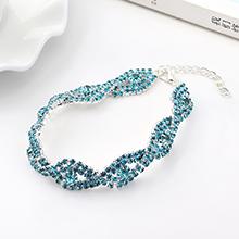 韩版大气时尚创意魅力之眼手链(浅蓝)