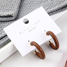 欧美时尚个性小清新镀真金小半圆圈镂空S925银针