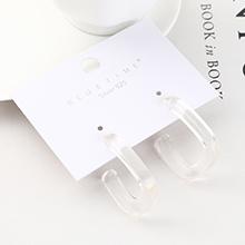 欧美创意时尚个性镀真金百搭风镂空S925银针(白色)