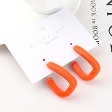 欧美创意时尚个性镀真金百搭风镂空S925银针(橘红)