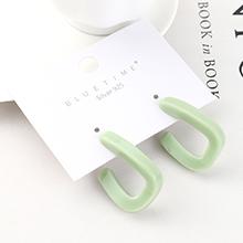 欧美创意时尚个性镀真金百搭风镂空S925银针(绿色)