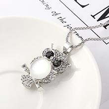 欧美时尚创意个性简约小猫头鹰(白金+猫眼石)