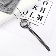 欧美时尚个性创意夸张百搭大圆圈项链(枪黑)