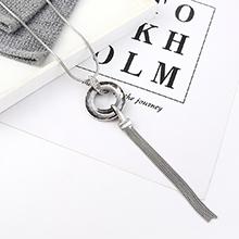 欧美时尚个性创意夸张百搭大圆圈项链(白金)