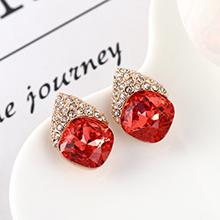 奥地利水晶耳环--似水年华(水莲红)