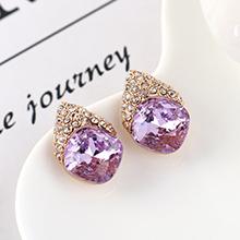 奥地利水晶耳环--似水年华(紫罗兰)