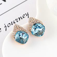 奥地利水晶耳环--似水年华(海蓝)