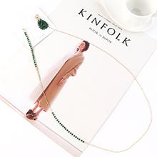 欧美夸张创意时尚镀真金个性长款珍珠S925银针(14K金)
