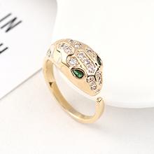 AAA级锆石戒指--蛇魅(14K金)
