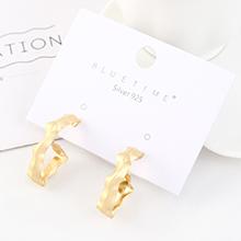 欧美夸张创意个性镀真金时尚冷淡风镂空S925银针