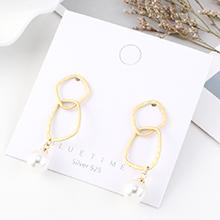 韩版时尚个性创意镀真金冷淡风百搭气质珍珠镂空S925银针