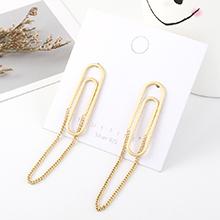 欧美夸张时尚创意镀真金个性气质回形S925银针
