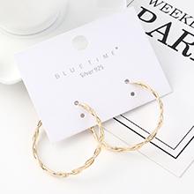韩版时尚创意气质镀真金个性百搭大圈圈S925银针