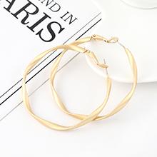 欧美创意夸张冷淡风镀真金百搭时尚个性不规则大圆圈镂空S925银针