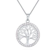 镀真金项链--幸运之树(白金)