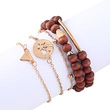 韩版时尚个性百搭创意简约木头珠子手链套装
