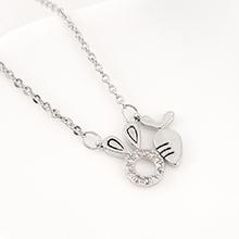 AAA级锆石项链--兔子萝卜(白金)