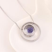 奥地利水晶项链--旧时光(藕荷紫)