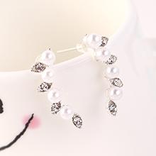 欧美时尚百搭个性创意眼眸珍珠耳钉